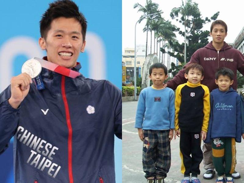 ▲李智凱(左、右圖前排左一)在東京奧運個人鞍馬決賽中奪銀。(圖/體育署、翻攝林育賢臉書)