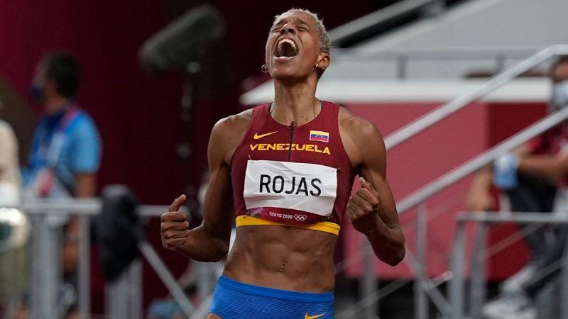 ▲委內瑞拉女將Yulimar Rojas破世界紀錄奪女子三級跳遠金牌。(圖/美聯社/達志影像)