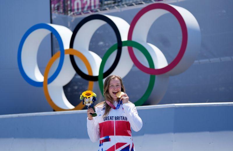 ▲2020東京奧運,來自世界各國的選手紛紛在舞台上大放異彩。圖為英國的夏洛特·沃辛頓