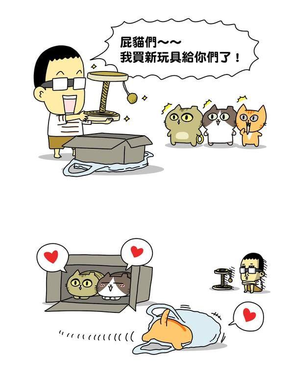 ▲辛卡米克養貓後開始創作出跟貓奴有共鳴的圖文。(圖/辛卡米克授權)