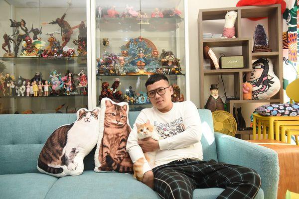 ▲收編第七隻貓,讓辛卡米克的人氣又更上一層樓。(圖/寵毛網,記者陳明安攝)
