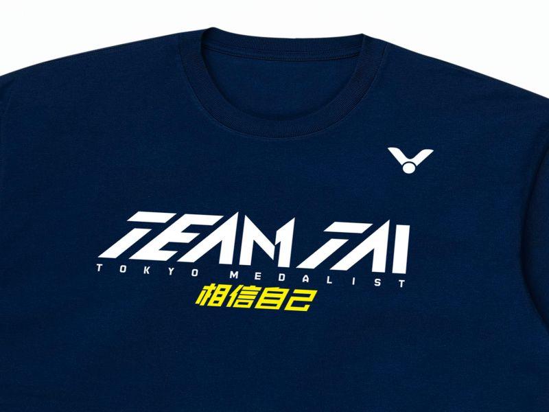 ▲戴資穎東京奧運奪牌紀念T-shirt加入小戴核心精神「相信自己」。(圖/VICTOR提供)