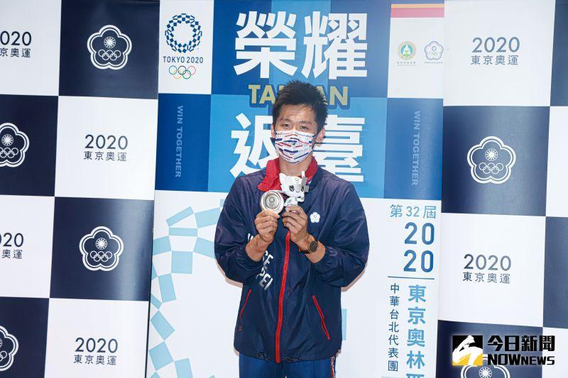 ▲2020東京奧運體操鞍馬項目,李智凱奪得銀牌,今凱旋回國。(圖/記者葉政勳攝