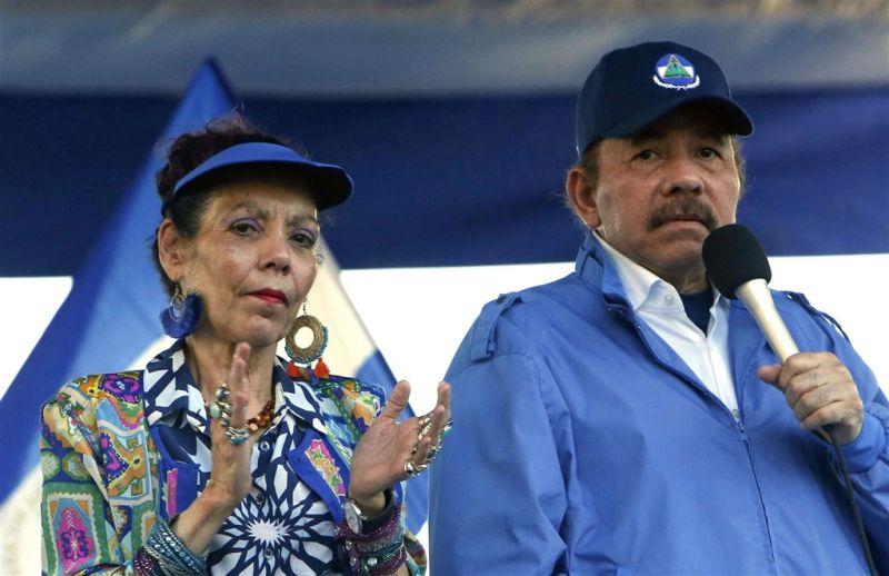 ▲尼加拉瓜總統奧蒂嘉(右)所屬政黨2日表示,奧蒂嘉將在今年11月大選尋求第4個總統任期。奧蒂嘉的妻子、副總統穆麗優(左)將再次與他搭檔。(圖/美聯社/達志影像)
