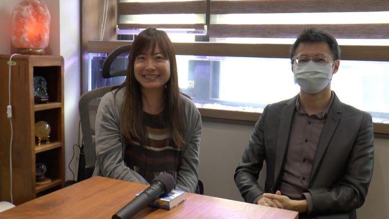 ▲資深配音員林美秀(左)、蔣鐵城參與《變法》網路廣播小說演出。(圖/好好聽FM提供)