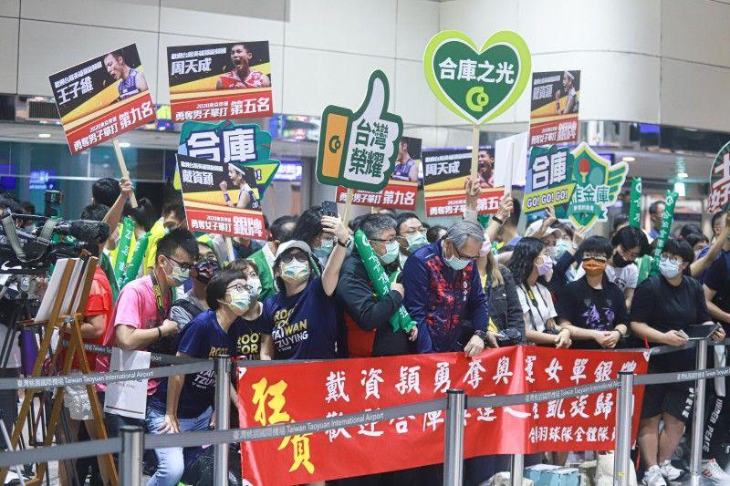 ▲東京奧運羽球銀牌戴資穎返國,受到熱烈歡迎。(圖/葉政勳攝)