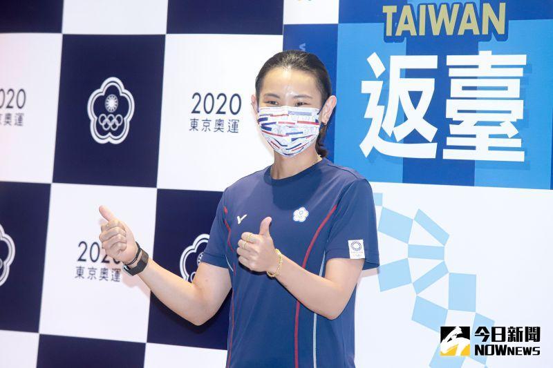 ▲2020東京奧運,台灣羽球代表隊光榮歸國,羽球女單戴資穎繳出好表現,為台灣奪得一面銀牌。(圖/記者葉政勳攝