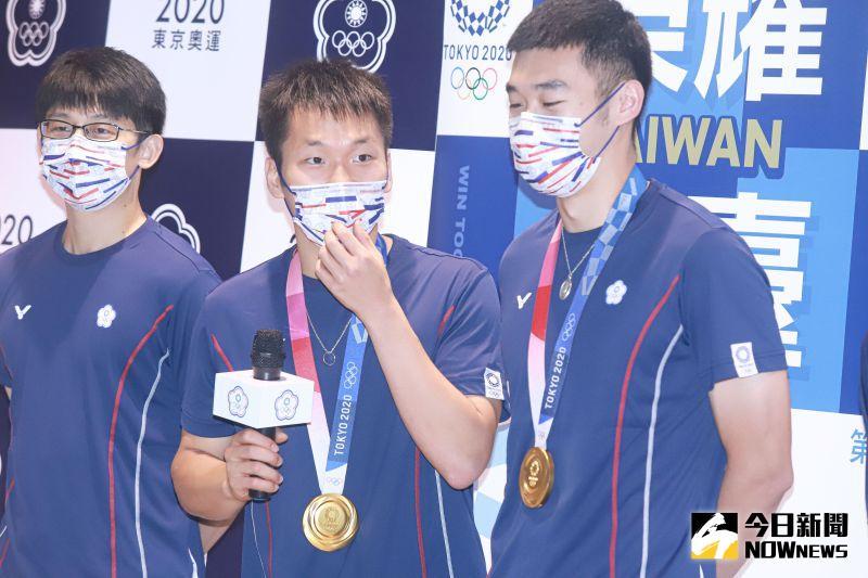 ▲2020東京奧運台灣羽球代表隊4日光榮歸國。(圖/記者葉政勳攝 , 2021.08.04)