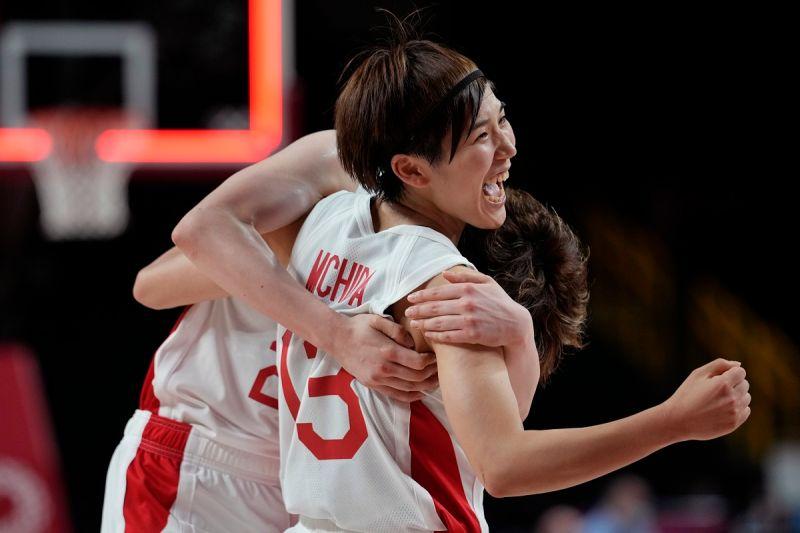 ▲日本隊靠著林咲希的致勝三分球,逆轉比利時晉級八強。(圖/美聯社/達志影像)
