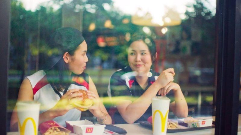 ▲台灣麥當勞x戴資穎首支紀實片《在你身邊為你加油,這樣的滋味,真好》