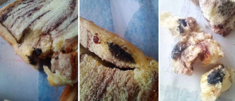 ▲女網友PO出發霉的大理石蛋糕。(圖/翻攝自《Dcard》)