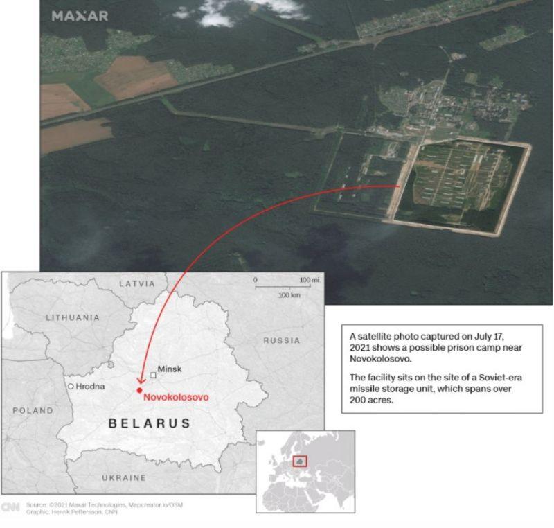 ▲白俄羅斯威權政府最近在森林深處疑似修建一座拘留營,可能用來關押異議人士,加上近期連串打壓事件,令國際間更加擔憂白俄羅斯人權情況。(圖/翻攝自推特)