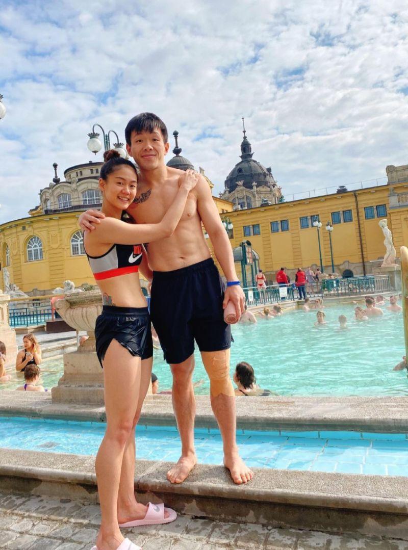 ▲文姿云的男友在奧運比賽前就向她求婚,兩人愛情長跑11年好事將近。(圖/翻攝自文姿云IG)