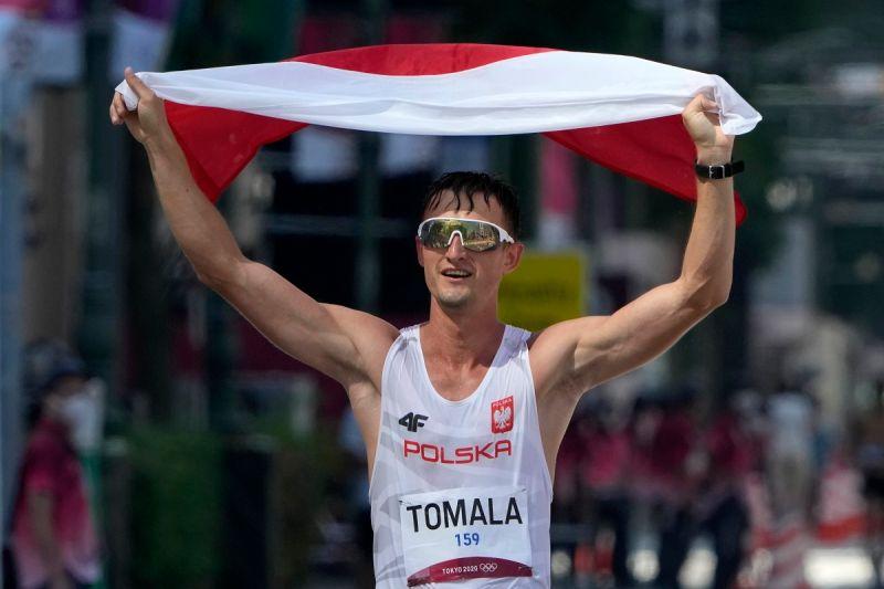 ▲波蘭選手Dawid Tomala在東京奧運50公里競走奪金。(圖/美聯社/達志影像)