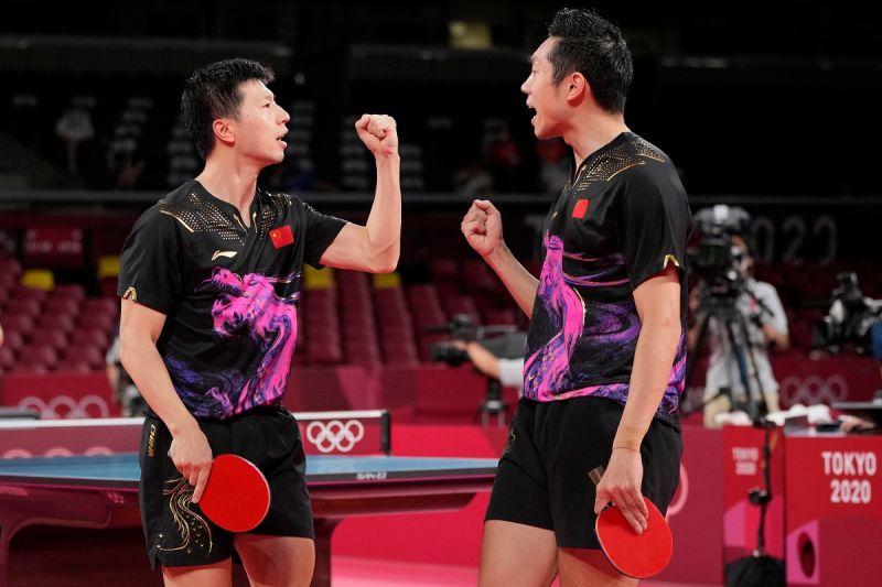 ▲中國大陸男團拿下男團金牌。(圖/美聯社/達志影像)