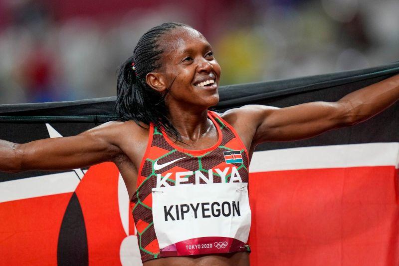 ▲肯亞選手Faith Kipyegon在女子1500公尺奪冠。(圖/美聯社/達志影像)