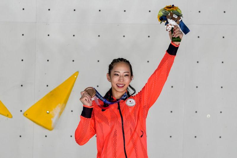 奧運/日本「攀岩女王」獲銅感動退役 傳奇生涯圓滿謝幕