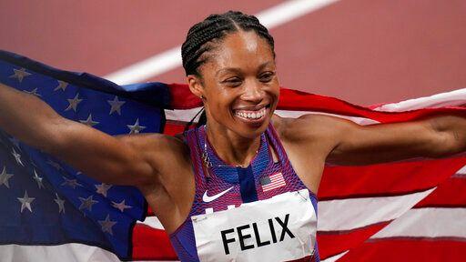 ▲美國「田徑老媽」Allyson Felix最後一次奧運。(圖/美聯社/達志影像)