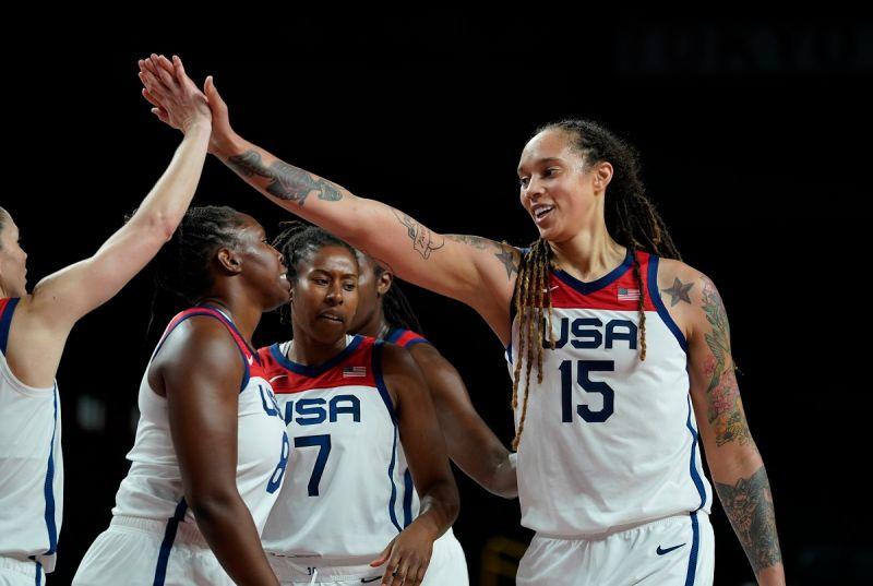 ▲美國「女魔獸」Brittney Griner帶領球隊完成奧運7連霸。(圖/美聯社/達志影像)