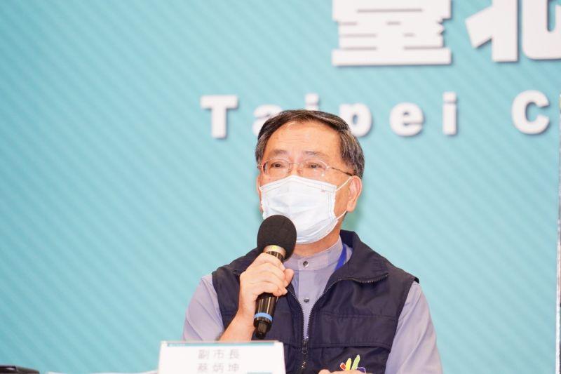 ▲北市副市長蔡炳坤表示,第8期疫苗開放預約後,北市府發現有3成民眾非台北市民,希望中央重視疫苗預約系統問題。(圖/北市府提供)