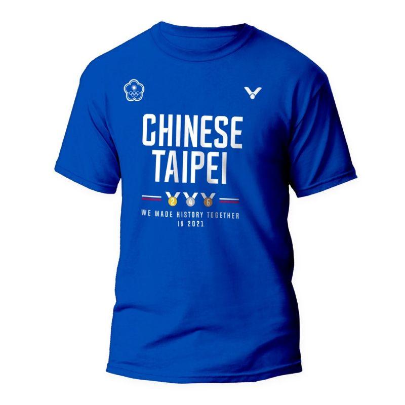 ▲VICTOR推出東京奧運中華隊官方紀念T-shirt。(Victor提供)
