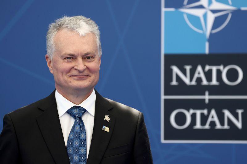 ▲2019年立陶宛總統瑙塞達(Gitanas Nausėda)競選時,強烈支持美國加強在其境內部署的軍事力量,希望用以「威懾俄羅斯」。(圖/美聯社/達志影像)