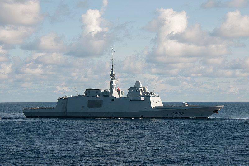 ▲法國海軍「普羅旺斯號」(FS Provence,D-652)巡防艦。(圖/美國海軍)