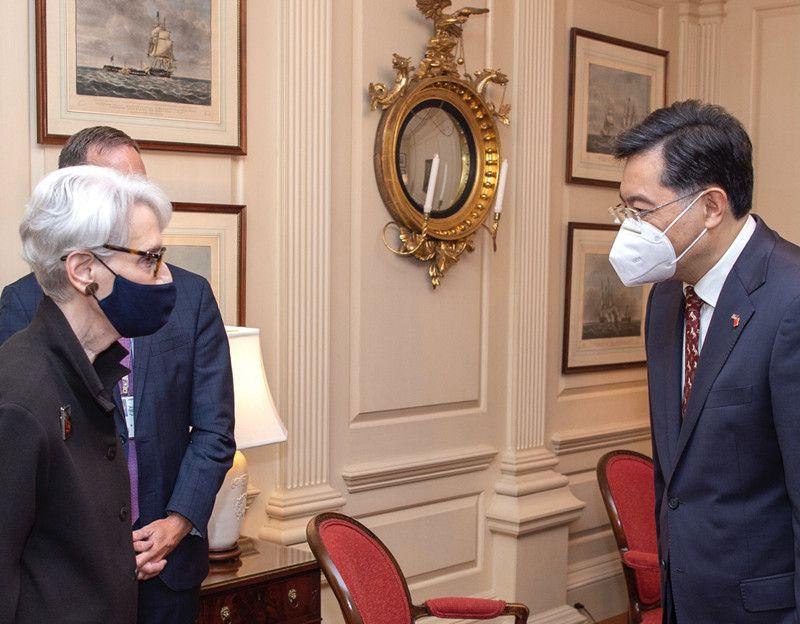 會晤美副國務卿 中大使秦剛:台灣是2國最敏感問題