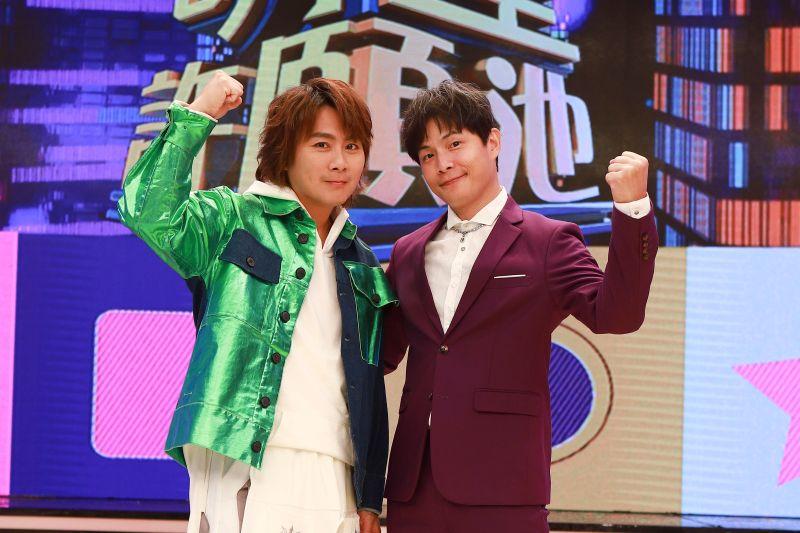 ▲孫協志(右)、王仁甫(左)為了節目效果不惜形象。(圖/民視提供)