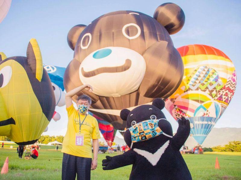 ▲柯文哲14日赴台東,台北市疫情記者會由副市長黃珊珊上陣。(圖/翻攝自柯文哲臉書)