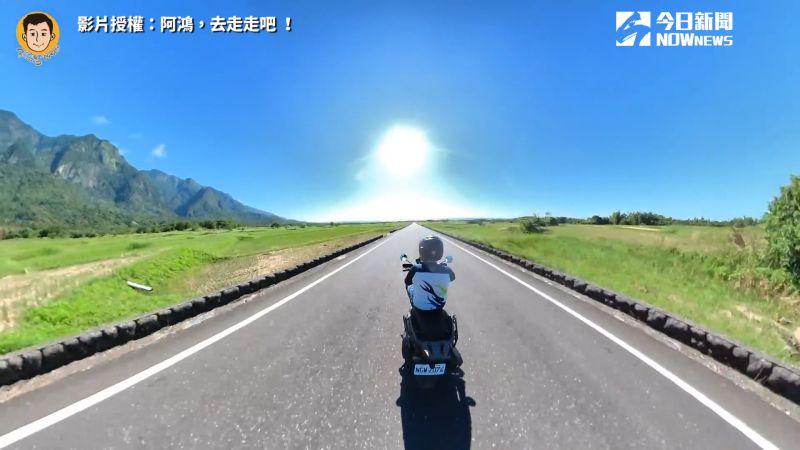 ▲50歲的大叔「阿鴻」熱血挑戰一日環島。(圖/阿鴻,去走走吧 !  授權)