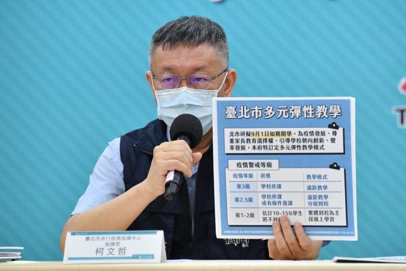 ▲行政院稱振興券比發現金成本低,台北市長柯文哲直言,講這話的人該檢查智商。(圖/北市府提供)