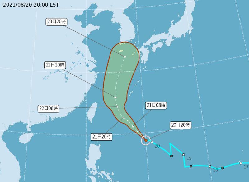 ▲中央氣象局表示,輕颱奧麥斯生成,預估不會直接影響台灣陸地。(圖/中央氣象局提供)