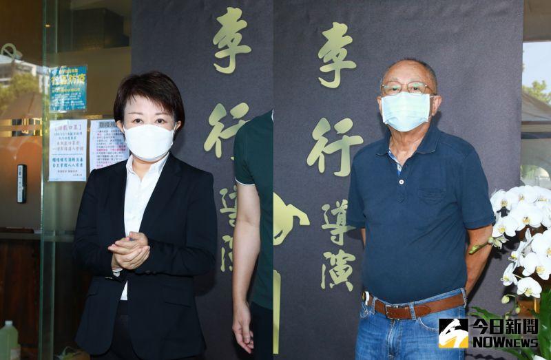 ▲盧秀燕(左)曾想替李行辦百歲壽宴,陳坤厚(右)悼念「一甲子緣分」。(圖/特約攝影黃彥凱)