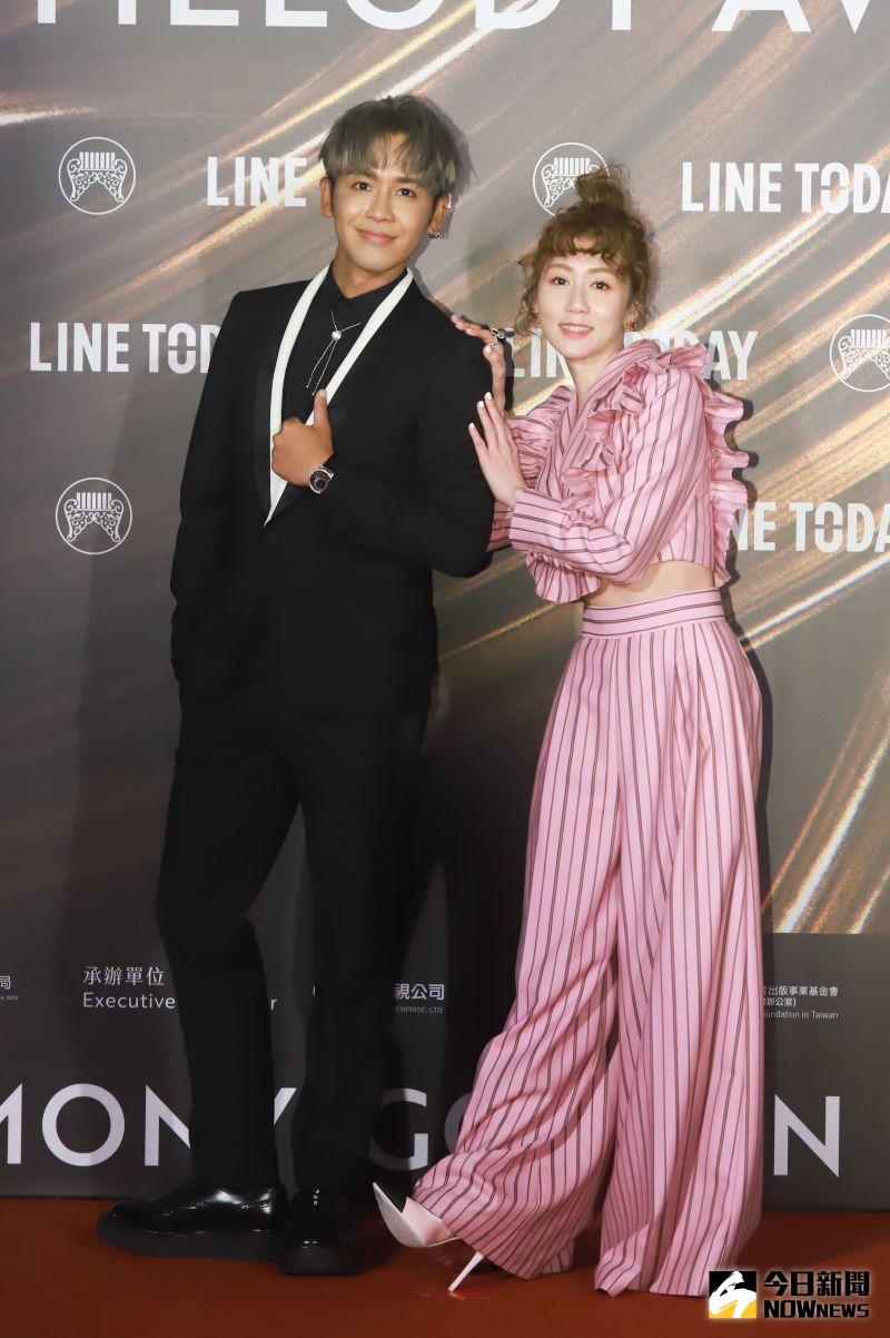 ▲鼓鼓、瑪麗擔任第32屆金曲獎紅毯主持人。(圖/NOWnews攝影中心)