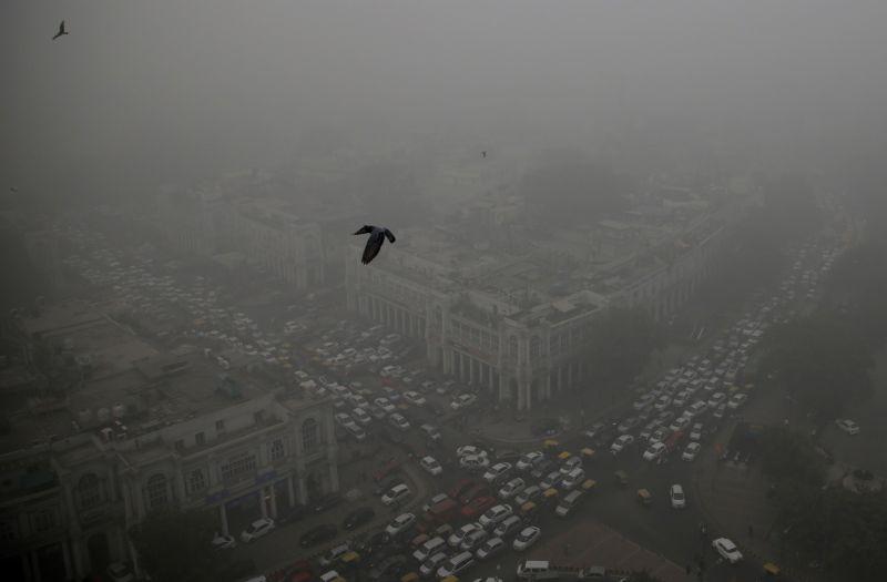 印度新德里啟用首座除霾塔 對抗PM2.5