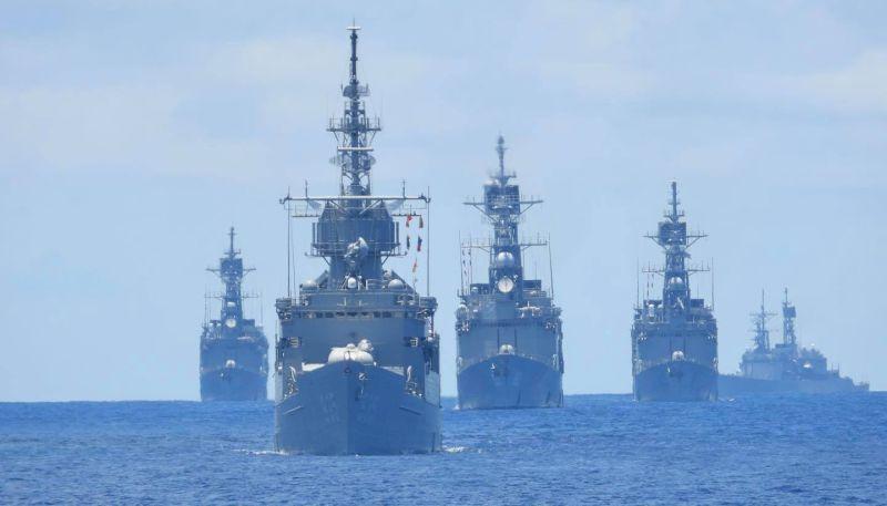 ▲海軍168艦隊進行海上對抗操演,4艘紀德艦罕見同框參與演練。(圖/中華民國海軍艦隊指揮部臉書粉絲團)