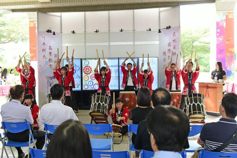 修平科大應日系必修和太鼓    全台唯一修習日本傳統技藝