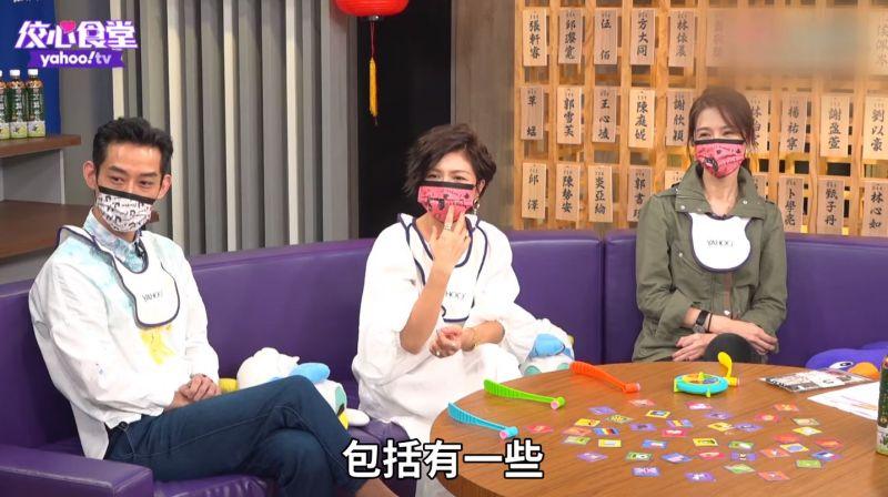 ▲陳竹昇(左起)、于子育、謝盈萱分享《俗女養成記2》拍攝趣事。(圖/翻攝Yahoo TV 佼心食堂YouTube)