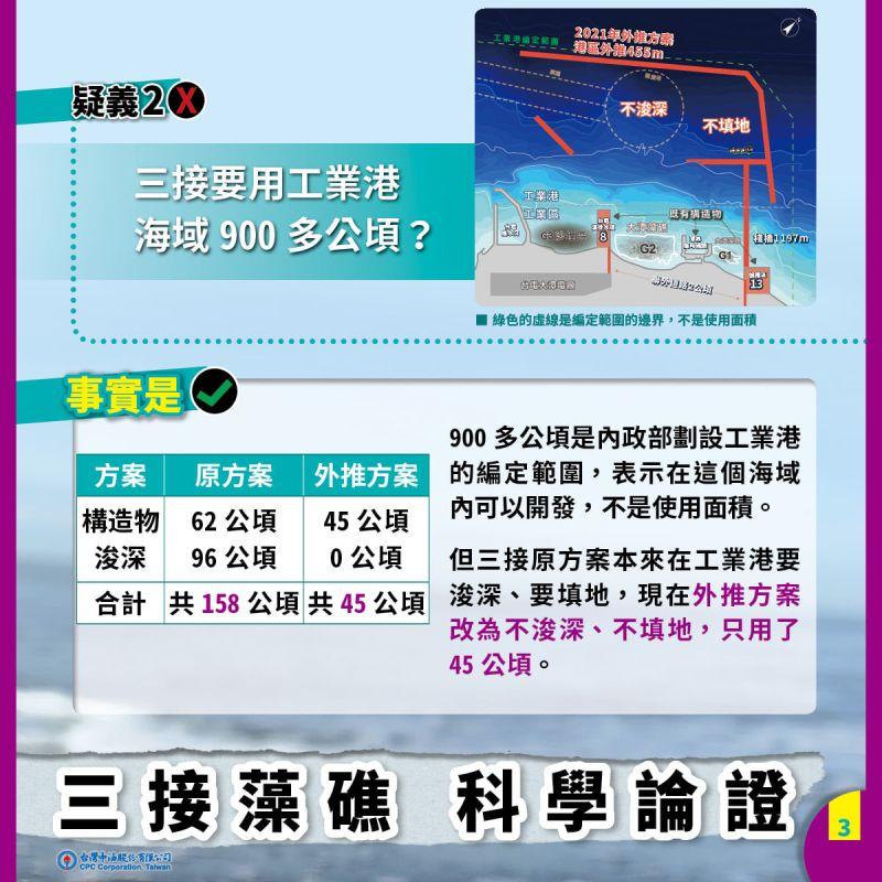 ▲中油澄清紀錄片「藻礁之聲」誤解。(圖/台灣中油臉書)