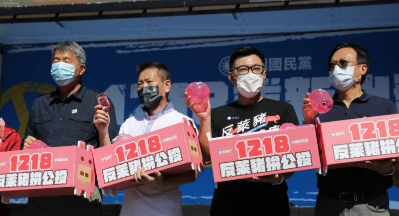 ▲國民黨推動反萊豬、公投綁大選公投案。(圖/資料照片)