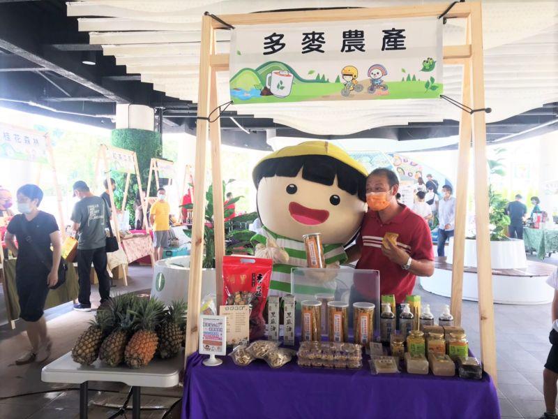 ▲水保局南投分局舉辦農萊市集,提供彰投雲嘉小農展售優質農產品。(圖/水保局提供)