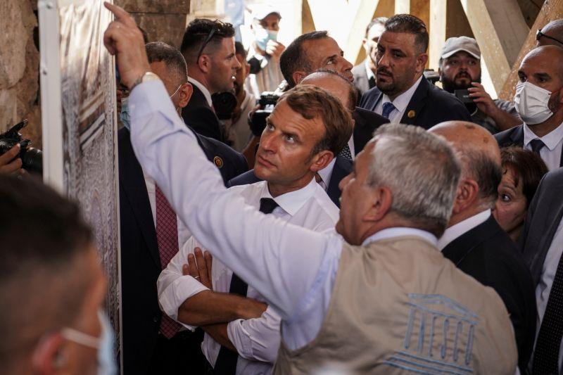 法國總統馬克宏訪伊拉克 將赴IS昔日重鎮摩蘇爾