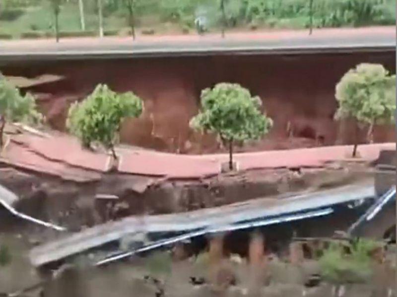 河南多地再迎暴雨 鄭州、洛陽都傳路面坍塌
