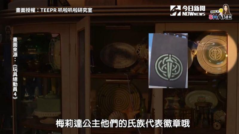 ▲ 隱藏在電影中的氏族徽章。(圖/TEEPR 叭啦叭啦研究室 授權)
