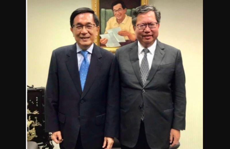 ▲前總統陳水扁與桃園市長鄭文燦合照。  (圖/新頭殼)