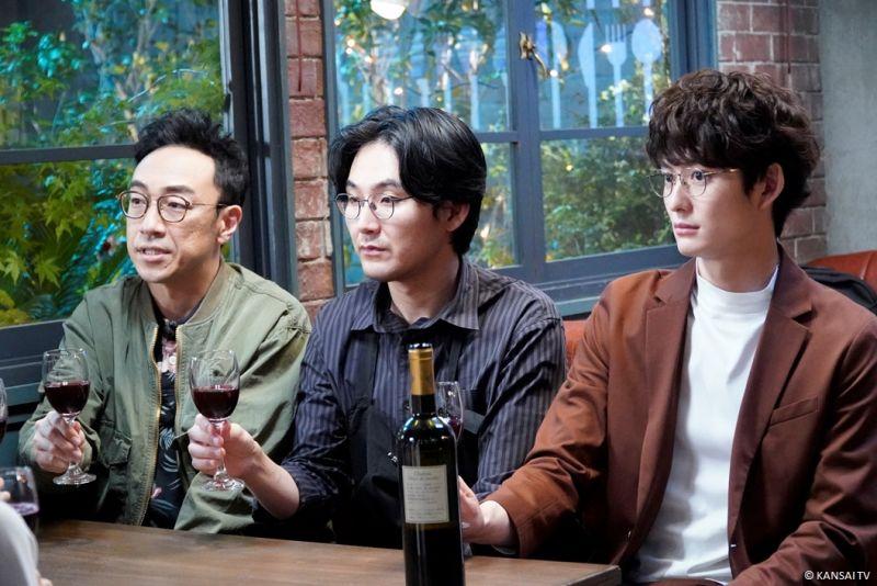 ▲角田晃廣(左起)、松田龍平、岡田將生劇中是松隆子的「前夫們」。(圖/WAKUWAKU JAPAN)