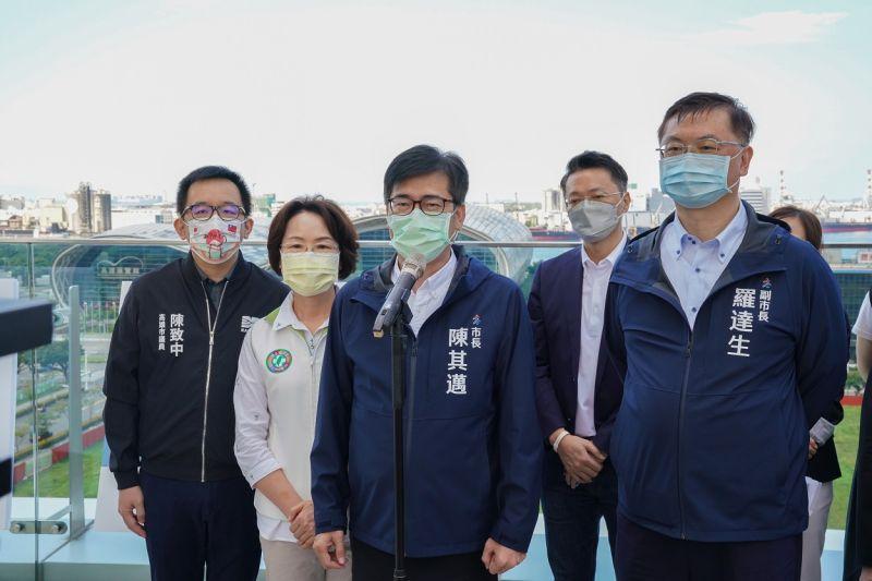 ▲高雄市長陳其邁今天針對八大行業開放問題時表示,請大家再給一點時間。(圖/高市府提供)