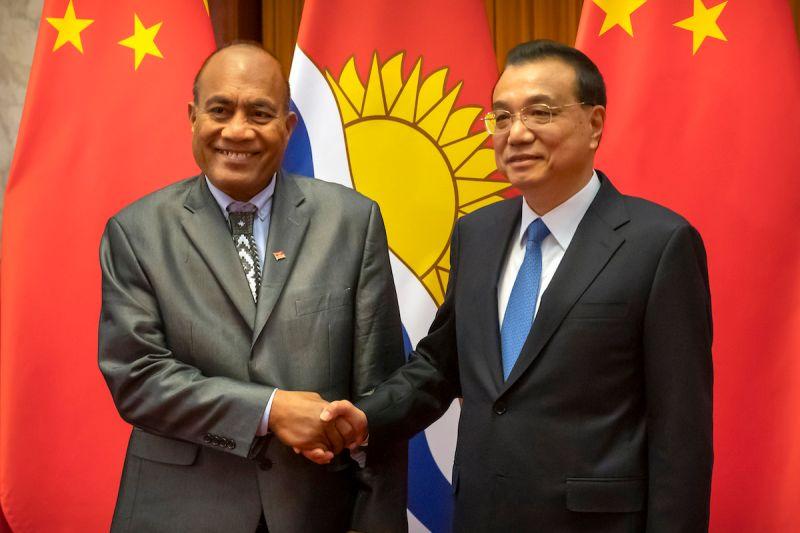 ▲吉里巴斯於2019年與台灣斷交,並與中國建交。圖為吉里巴斯總統馬茂。(圖/美聯社/達志影像)