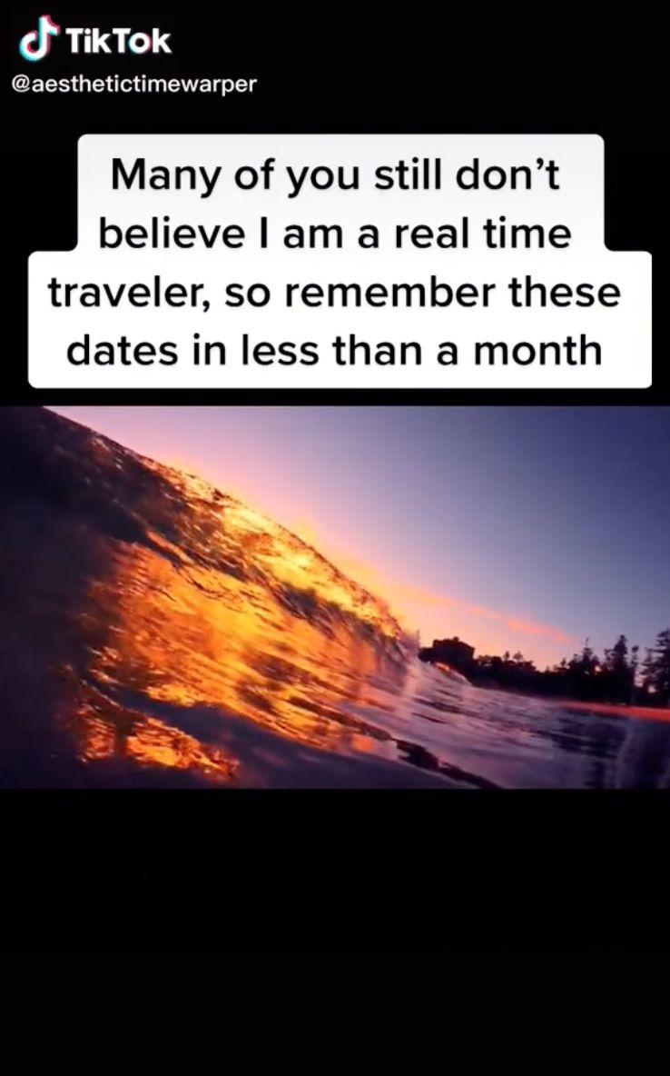 ▲一名自稱來自西元2714年的「時光旅人」,地球9月有「3天」將發生大事。(圖/翻攝自TikTokaesthetictimewarper)